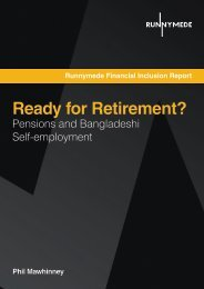 Ready for Retirement? - Runnymede Trust