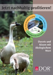 Produkte Ökologie - Dorbena AG