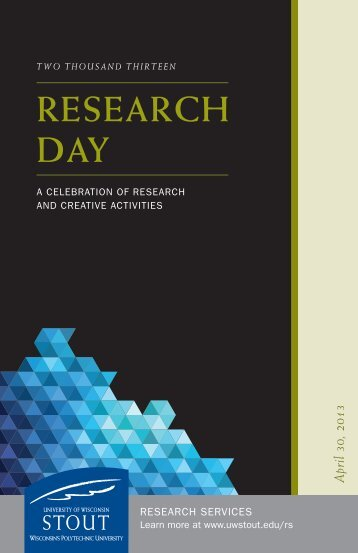 RESEARCH DAY - University of Wisconsin-Stout
