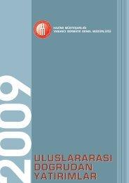Uluslararası Doğrudan Yatırımlar 2009 Yılı Raporu - Dış Ticaret ...