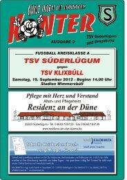 Ausgabe 3 - beim Fußball des TSV Süderlügum uU von 1920 eV