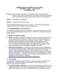 October 11, 2002 - Governance Minutes - Virginia Tech