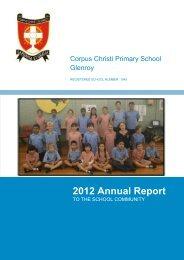 2012 Annual Report - Corpus Christi Glenroy