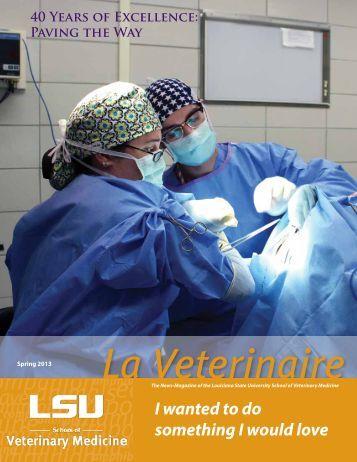 Spring 2013 - School of Veterinary Medicine - Louisiana State ...