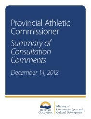 Consultation Plan – Draft Outline - Ministry of Community, Sport and ...