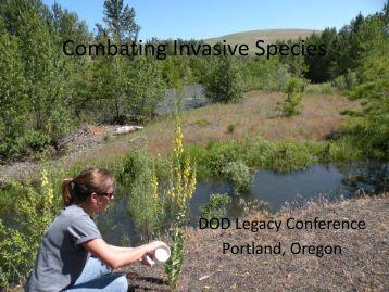Combating Invasive Species - Center for Invasive Plant Management
