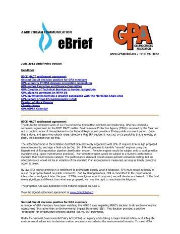 Natural Gas Processors Association