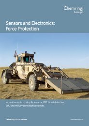 Sensors and Electronics: Force Protection - Chemring Group PLC