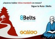 Sigue la Ruta 8Belts - Galileo Formación