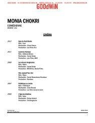 MONIA CHOKRI - Agence Goodwin