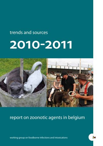 report on zoonotic agents in belgium trends and sources - FAVV