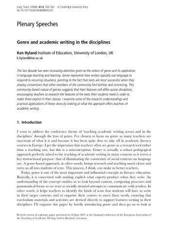 Language  Social Structure  and Culture  A Genre Analysis of Cooking  Classes in Pros Write