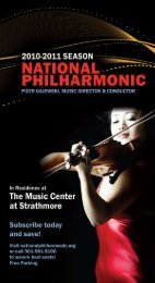 nationalphilharmonic.org • i - Strathmore
