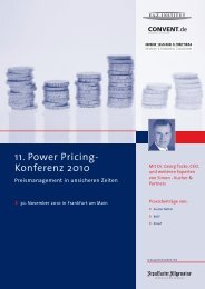 11. Power Pricing- Konferenz 2010 - Simon-Kucher & Partners
