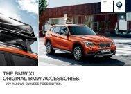 THE BMW X. ORIGINAL BMW ACCESSORIES. year and - BMW.com