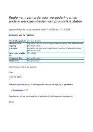 Reglement van orde voor vergaderingen en ... - Provincie Drenthe