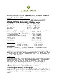 Informationen zur Gartenträume 2013 in ... - Die Gartenträume