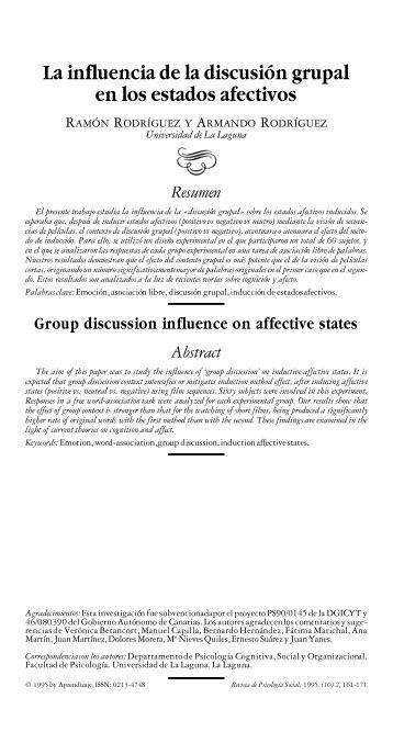 La influencia de la discusion grupal en los ... - IngentaConnect