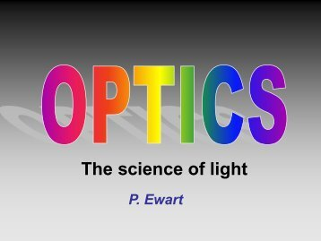 Optics lecture slides Part 2 2013