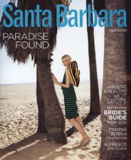 Santa Barbara Magazine April/May 2011 - Exquisite Surfaces