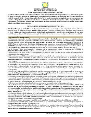 edital completo retificado e consolidado 001/2012 - Inteligente Site