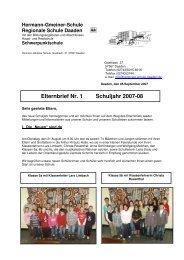 Elternbrief Nr. 1 Schuljahr 2007-08 - Hermann-Gmeiner-Schule