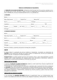 Contrato de Atendimento Particular - FFM - Fundação Faculdade de ...