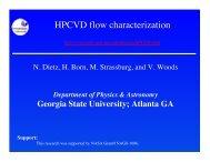 Flow (slm) Pressure (bar) - Physics & Astronomy - Georgia State ...
