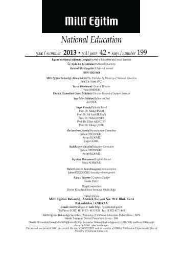 Sayı 199 - Destek Hizmetleri Genel Müdürlüğü - Milli Eğitim Bakanlığı