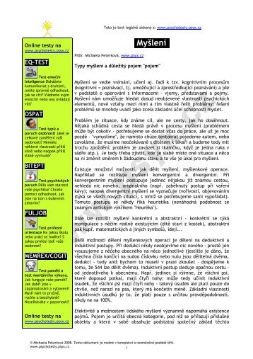 stáhnout v pdf - Psychotesty