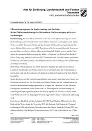 Amt für Ernährung, Landwirtschaft und Forsten Traunstein mit ...