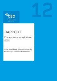 Kommuneundersøkelsen 2012 - Direktoratet for samfunnssikkerhet ...