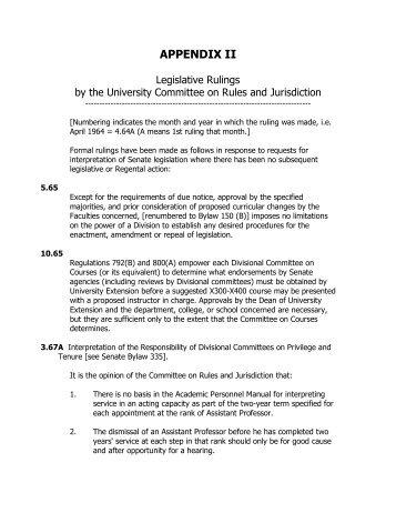 APPENDIX II - UCLA Academic Senate