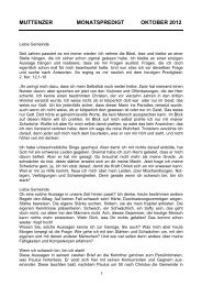 Oktober 2012 - Evangelisch reformierte Kirchgemeinde Muttenz