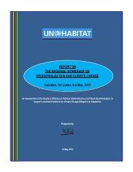 Regional Workshop on Decentralization And Climate ... - UN HABITAT