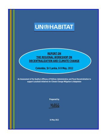 Regional Workshop on Decentralization And Climate ... - UN HABITAT