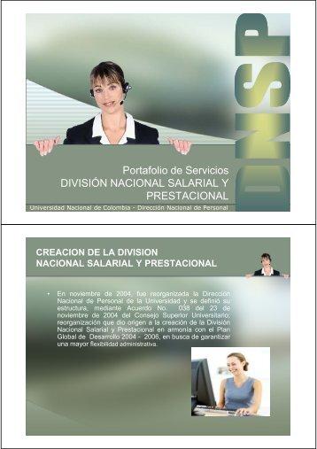 Portafolio de Servicios - Universidad Nacional de Colombia