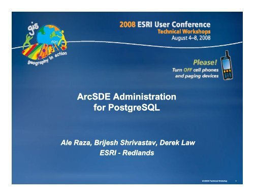 ArcSDE Administration for PostgreSQL