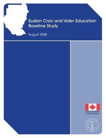 Sudan Civic and Voter Education Baseline Study - IFES