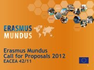 Erasmus Mundus Call for Proposals 2012 - Agence Europe ...