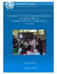 Community Action Planning Guidelines for ... - UN HABITAT