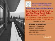 Space-Shifting and Copyright - Fenwick & West LLP