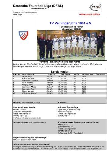 Deutsche Faustball-Liga (DFBL) TV Vaihingen/Enz 1861 e.V.
