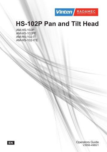 HS-102P Pan and Tilt Head - Vinten Radamec