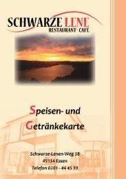 Speisekarte - Restaurant- Café Schwarze Lene