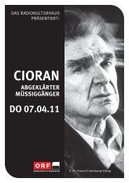 Cioran - Österreichisch-Rumänische Gesellschaft