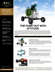 THE PUMP OUT WITH ATTITUDE. - Wastecorp Pumps