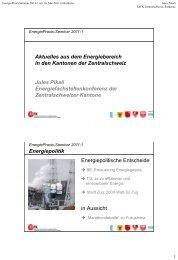 Vorstellung MuKEn08 - Energie Zentralschweiz