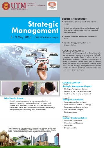 Strategic Management - Institute of Bioproduct Development