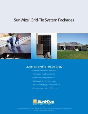 SunWize® Grid-Tie System Packages - SunWize Technologies, Inc.